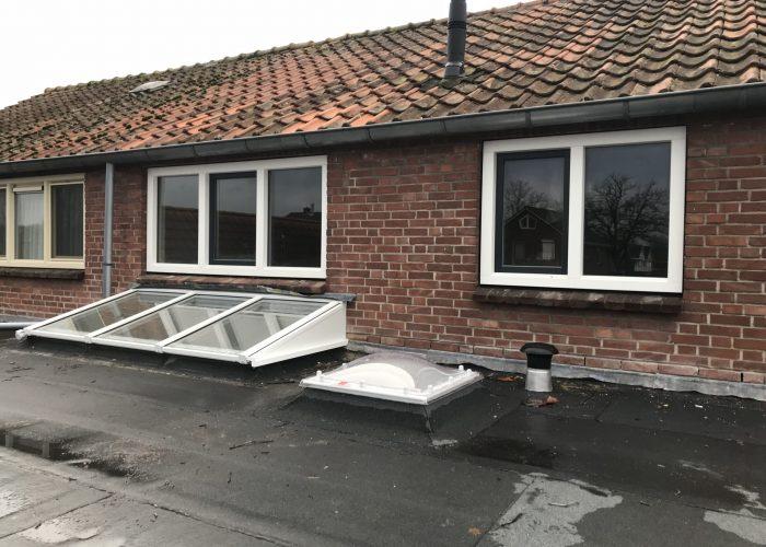 Lichtstraat plat dak